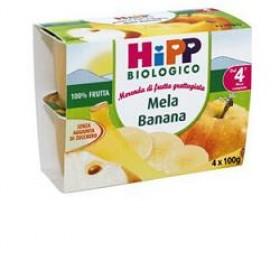 HIPP BIO FRUTTA GRATTUGGIATA MELA BANANA 4X100 G