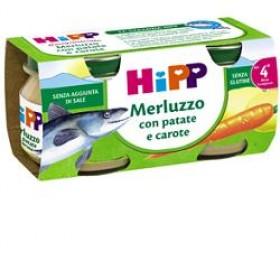 HIPP OMOGENEIZZATO MERLUZZO CAROTE PATATE 2X80 G