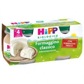 HIPP BIO OMOGENEIZZATO FORMAGGINO CLASSICO 2X80 G