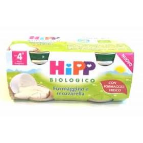 HIPP BIO OMOGENEIZZATO FORMAGGINO MOZZARELLA 2X80 G