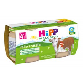 HIPP BIO HIPP BIO OMOGENEIZZATO POLLO VITELLO 2X80 G