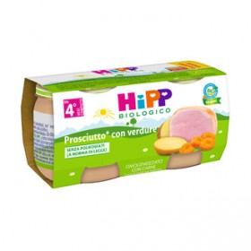 HIPP BIO HIPP BIO OMOGENEIZZATO PROSCIUTTO CON VERDURE 2X80G